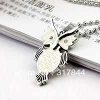 Pendant titanium fashion owl necklace gift