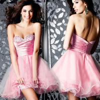 Fashion fashion bride dress formal dress pink evening dress evening dress party dress formal dress short design