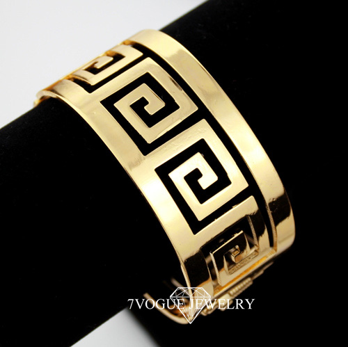 Big Size Bracelets & Bangles For Women Or Men Fashion New 2013 Product 18K Real Gold Plated Vintage G Bangle FREE SHIPPING H308(China (Mainland))