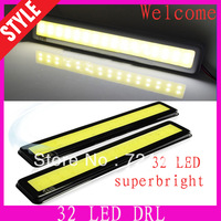 Wholesale discount New 2PCS Ultra-thin Super White 32 LED Car Daytime Running Light DRL fog lamp light