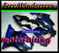 motofairing -blue flame bodywork for HONDA fairings CBR600F4i 01-03 CBR600 F4i 01 02 03 CBR 600 2001