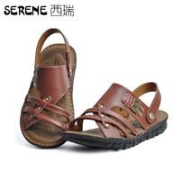 Serene brief commercial men's sandals leather sandals leather sandals male 8899