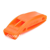Free Shipping!!! 20pcs/lot Outdoor Survival Whistle Dual whistle / rescue whistle(Orange)