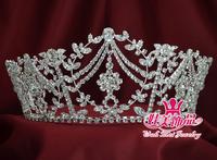 beauty pageant rhinestone crown tiara queen princess headdress mo-085