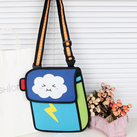 free shipping fashion 2013 comic carton 3D shoulder messenger bag gismo cartoon bag school handbag for children kids cute small