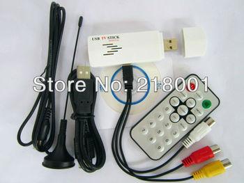 USB 2.0 HDTV Stick USB Digital&Analog TV Receiver stick Tuner  Remote for laptop USB TV STICK PC TV STICK Watch record Analog tv