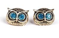 48pcs/LOT 24pairs Free Shipping wholesale Fashion Punk Fashion top Antique Night Owl Earring Animal Jewelry Ear Stud Nail