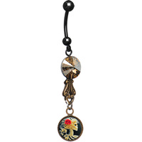 Free shipping Skull Cameo Belly Ring MADE WITH SWAROVSKI ELEMENTS body jewelry 60pcs/lot
