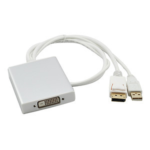 Active DisplayPort Source USB Power to Dual Link DVI Adapter 2560 1600 Eyefinity(China (Mainland))