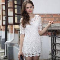 Free Shipping European Woman Sexy Lace Dress Ladies' Fashion Slim Fit Quality Dress S-XL MG-059