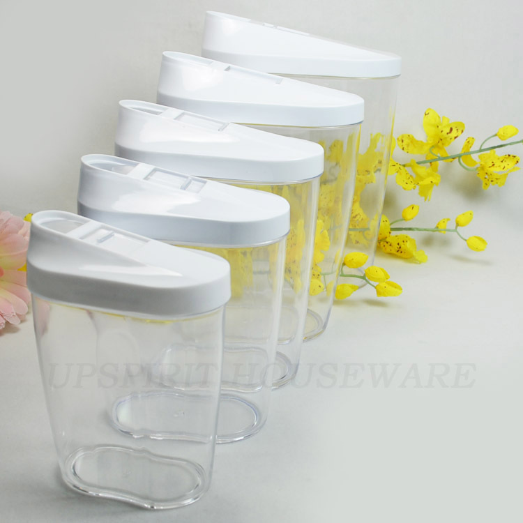 5 pcs pp + ps plastic candy / dried fruit / nuts / sugar / food storage container containers set storage bottles jar(China (Mainland))
