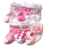 baby kids lace socks fit 1-3yrs girls children lady socks infant princess socks 12 pairs /lot 6 styles