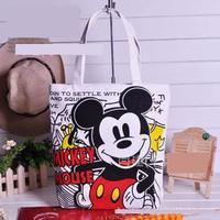 wholesaleHot canvas fabric bag! casual beach bag shopping shoulder bag handbag! print canvas bag! canvas printing bags! micky wh