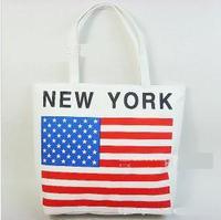 wholesaleHot canvas fabric bag! casual beach bag shopping shoulder bag handbag! print canvas bag! canvas printing bags! American