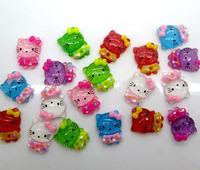 100Pcs Mixed Resin Hello Kitty Flatback Cabochon Scrapbooking Craft