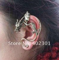 24pcs Free Shipping wholesale Fashion Punk Dragon Hook earrings dragon Wrap Earring Western earring
