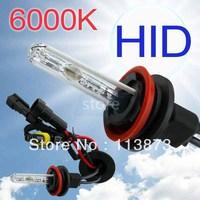2pcs HID Xenon h11 Pure White Replacement Car 6000K 35W Headlight Headlamp Bulb Lamp V2 free shipping parking car light source