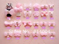 22 MIXED STYLES Free Shipping Wholesale/Nail Supply, 200pcs DIY BOW-TIE Nails Design/Nail Art, Unique Gift  #251-272