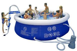 Hot swim pool Large family swimming pool 4.5 meters large diameter pump