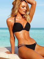 2013 Newest Hot Summer Victoria Super Push Up Sexy cleavage Bikini thicken padded Fashion Swimwear bra with cut padded yourself