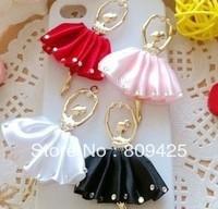 Free shipping! min order $15 Rhinestone dancing girl alloy for DIY phone decoration 6pcs alloy flatback free gift bag DY467