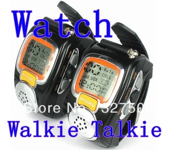 freeshipping Unique 2PCS Wrist Watch Walkie Talkie With Adjustable Band