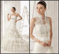 Lace Sleeveless See Through Button Wedding Jacket Bridal Wrap Jackets aire barcelona rosetta