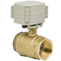 1 1/4'' brass two way electric ball valve 29mm bore DC12V/24V controlled 2wires 1.0Mpa actuated valve for water control