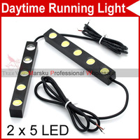 High Power Car Auto DIY 2x 5 LED 10W White Tiny Daytime Running Light Driving DRL Fog Lamp Waterproof 4574