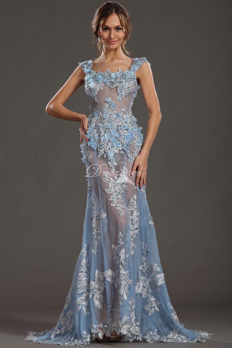 See Thru Prom Dresses Images