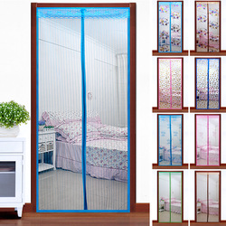 Mosquito curtain quality screen door magnetic buckle magnetic stripe screen door window summer jacquard stripe e457(China (Mainland))