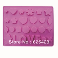 Free Shipping Hot Sale! Lovely Silicone Baking Biscuit Mold Eco-friendly Materials Cake Mold Durable Silicone Baking Mold