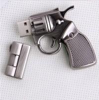 4GB 8GB 16GB 32GB metal gun handgun pistol shape USB 2.0 flash memory Pen drive