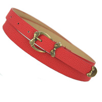 Metal bow nubuck pigskin mixed thin belt women's belt decoration belt female