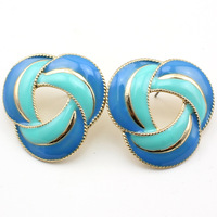 Minimum Order $6  Free Shipping   Flower earring fashion jewelry 2014 enamel earrings jewerly E165