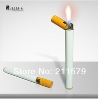 Fast and free shipping 4pcs/lot novelty cigarette Shaped butane Lighter