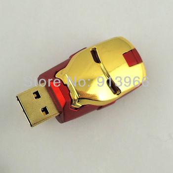 HK Post Air Mail Free Shipping, 100% Real Capacity Iron Man USB Pendrive 8GB, 8GB USB Flash Drives