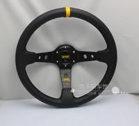 OMP carbon fiber PVC steering wheel steering wheel modified car racing steering wheel 14-inch carbon lines