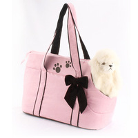 Free shipping Pet dog backpack dog egregiousness bag dog bag kinnet brand with pink bow
