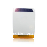 MD-326R Solar Powered Wireless Flashing Siren w Strobe Light Backup Battery EXTERNAL