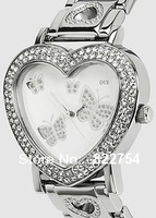 Ladies Fashion USA Famous Brand Stainless Steel Watch/Women's Heart Dial hours&clock&watch