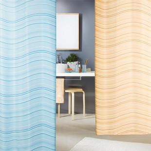 Fio spirella banheiro terylene eco impermeável cortina de chuveiro ondinha da água(China (Mainland))