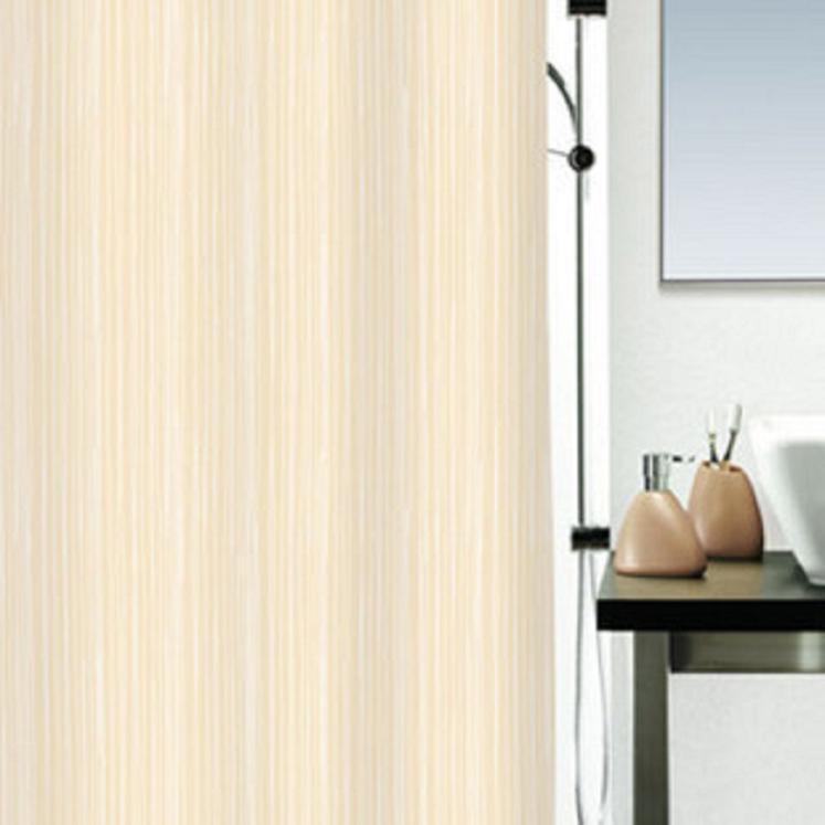 8 spirella raya teceu bege cortina impermeável terylene pano chuveiro(China (Mainland))