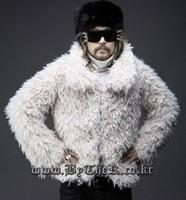 New arrival 2013 personality plush fur fashion men's short design fur outerwear casual male