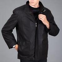 Male leather clothing male nick coat male sheepskin fur overcoat outerwear