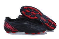 Free shiping!! 2013 popular Leather outdoor soccer shoes C-Ronaldo Black kids/adult football shoes/EUR 30-44 US 12.5-10.5 Size