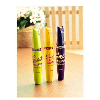 10pcs Thick Mascara Cream Eye Black Waterproof Eyelashes Makeup Tools Beauty Cosmetic Products Free Shipping