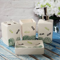 Bathroom set bathroom set ceramic toothbrush holder soap box toothbrush cup gift