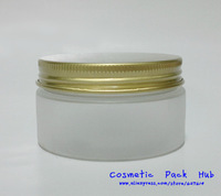 100ml/g Frosted Acrylic Cosmetic Jar Bottles,plastic Cream lotion Container with gold cap