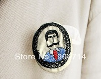 cartoon cotton pin brooches/Navy anchor insignia badge/fringed epaulets corsage brooch pin badges/button badges/emblems/patches